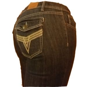 Vigoss Collection Skinny Jeans w/Flap Pockets